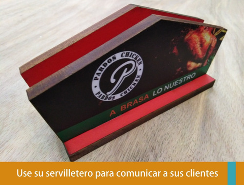 servilleteros menú cuadros personalizados para restaurantes