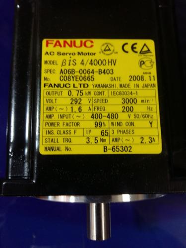 servo motor fanuc.  modelo : bis 4/4000 hv