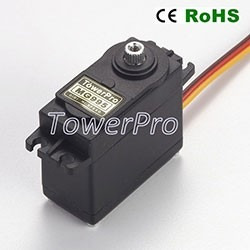 servo motor tower pro mg995 engranajes metalicos