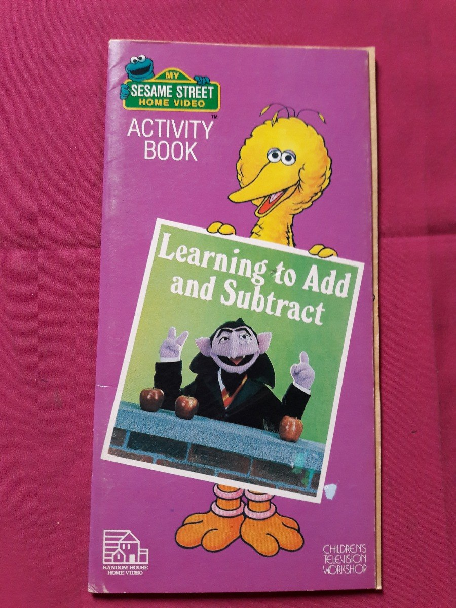 Sesame Street Activity Book Learning To Add And Subtract - $ 140,00