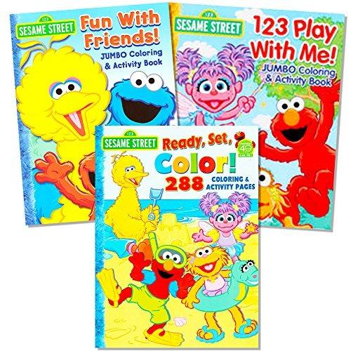 Sesame Street Coloring Book Super Set (3 Libros Jumbo - 480 ...