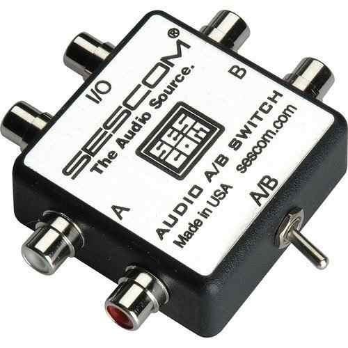 sescom ses-audio-ab rca audio estéreo mp3 ipod flac wma inte