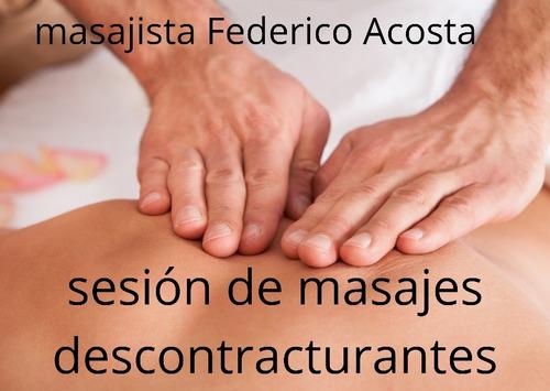 sesión de masajes descontracturantes