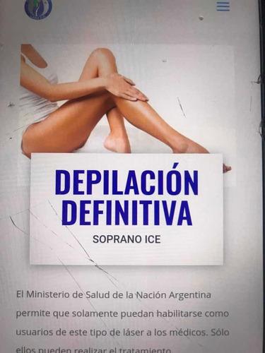 sesión depilación definitiva soprano ice