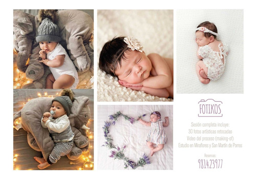 sesión fotográficas para bebés