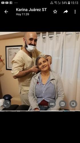 sesión quiropráctica