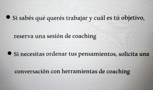 sesiones de coaching - conversaciones con coach
