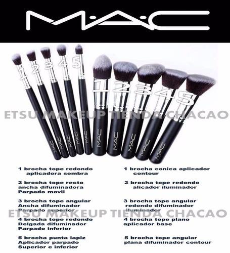 set 10 brochas kabuki mac polvo rubor base tienda chacao
