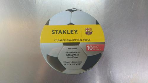 set 10 discos de corte amoladora 115mm stanley sta8063b bg