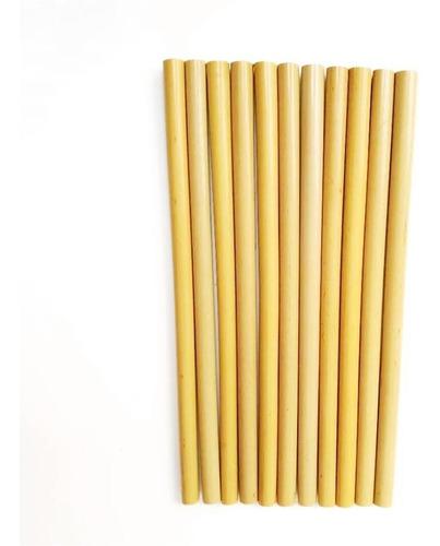 set 10 popotes de bambú ecológicos reutilizables lote nuevo
