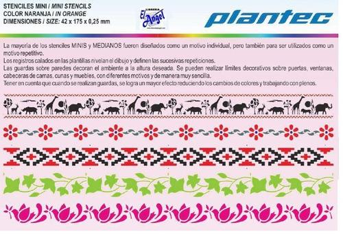 set 10 stencil plantec mini 42x175mm ideal para guardas