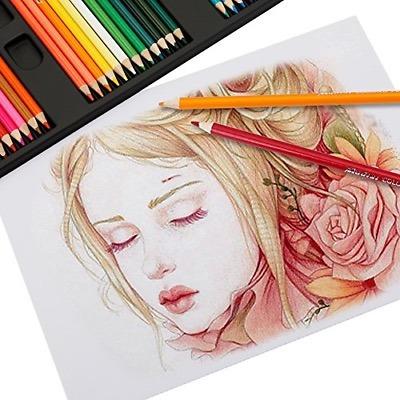 Set 100 Pz Dibujo Lapices Colores Artista Profesional