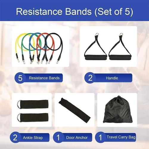 set 11 piezas bandas elásticas de resistencia / 003185