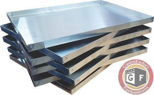 set 12 bandejas  asadera placa 30x40x2 aluminio remachada.
