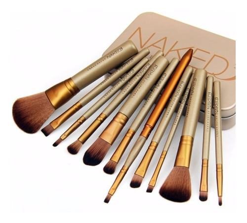 set 12 brocha naked 3 urban decay brochas de maquillaje