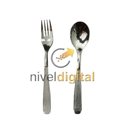 set 12 cubiertos carol tenedor cuchara mesa acero inoxidable
