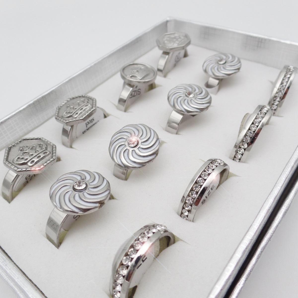 7ac9c7d809c1 set 12 hermosos anillos acero quirurgico 316l xmayor n111. Cargando zoom.
