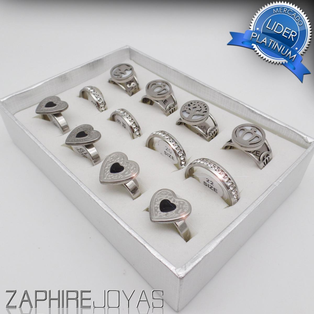 8db78b2aaf68 set 12 hermosos anillos acero quirurgico 316l xmayor n112. Cargando zoom.