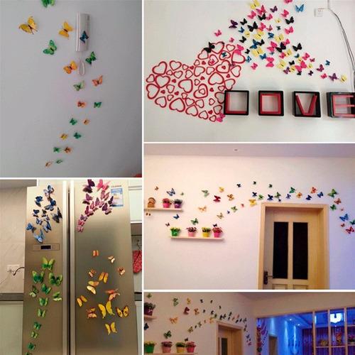 set 12 mariposas azules para decoracion con iman h4087