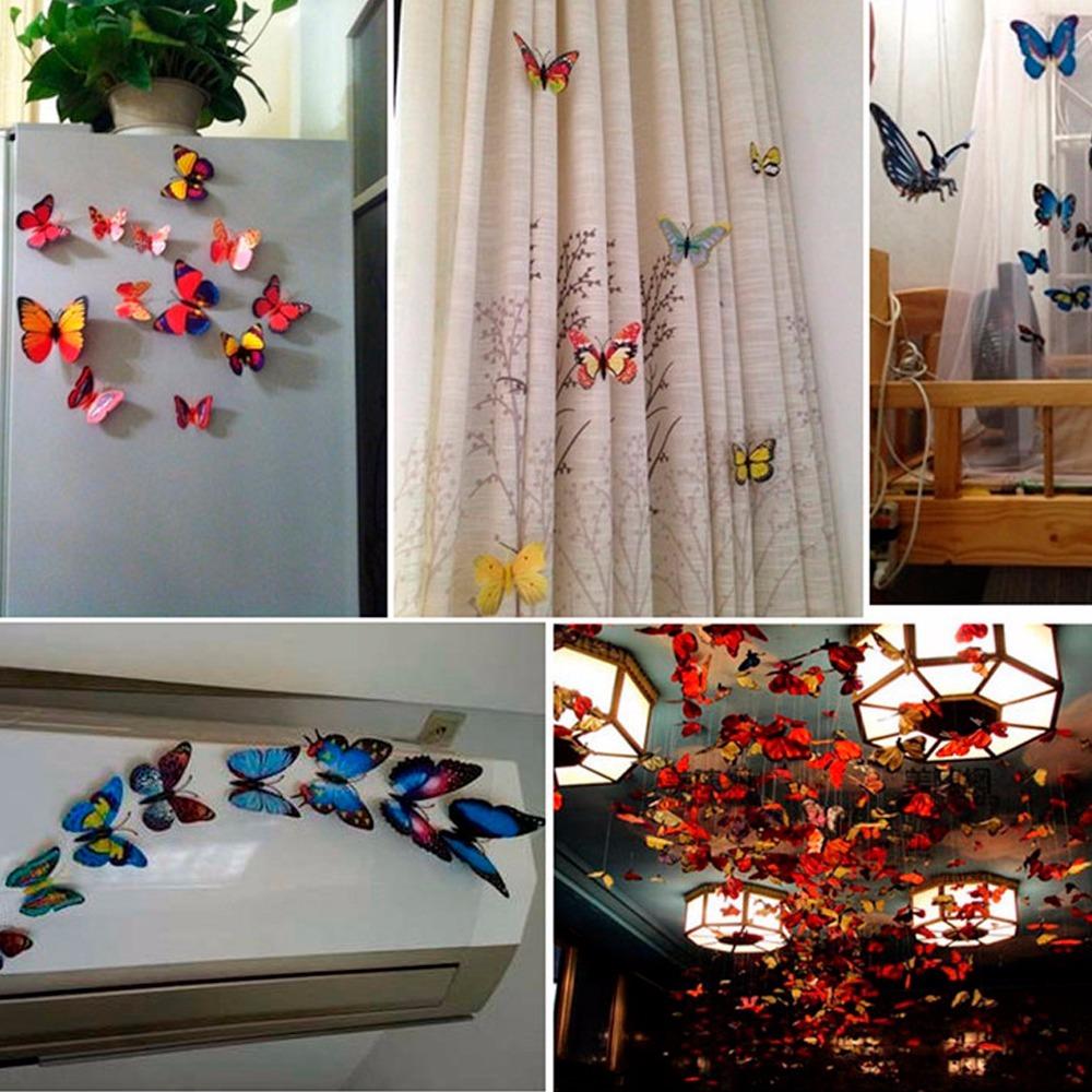 Set 12 mariposas azules para decoracion con iman h4087 - App decoracion hogar ...