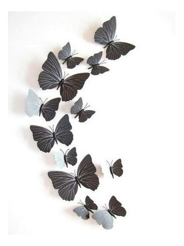 set 12 mariposas decorativas con imán varios colores
