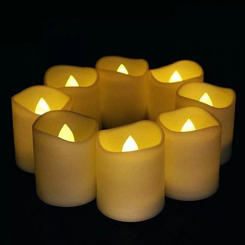 set 12 velas led blanco calido decoracion 23102 / fernapet