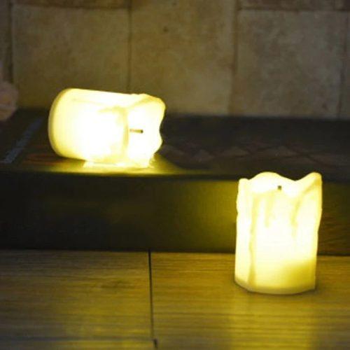 set 12 velas led blanco color luz blanco calido 5cma