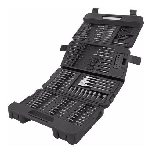 set 129 pzas black & decker a7211-xj mechas, puntas y tubos