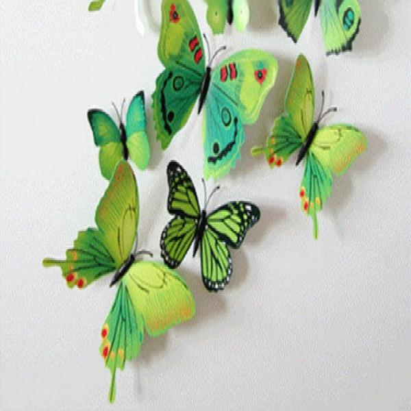 Set 12pc imanes mariposas 3d decoracion casa pared mesa - Mariposas decoracion pared ...