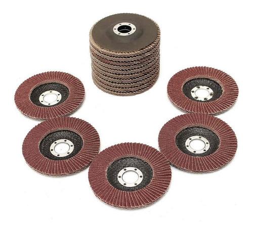 set 15 discos flap oxido aluminio 180 mm neo metal madera