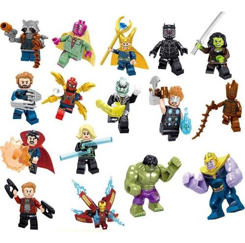 set 16 figuras vengadores / avengers  compatible con lego