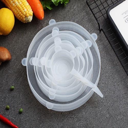 set 18 tapas silicona ajustable conserva alimentos frescos