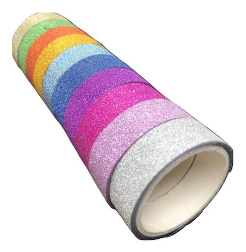 set 180 cinta adhesiva glitter washi tape