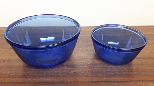 set 2 bowles o tazones pyrex 16 y 21cm - made in usa