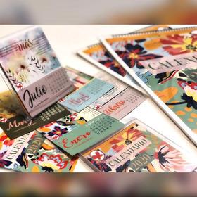 Set 2 Calendario Pared Y 4 De Escritorio A Mitad De Precio!!
