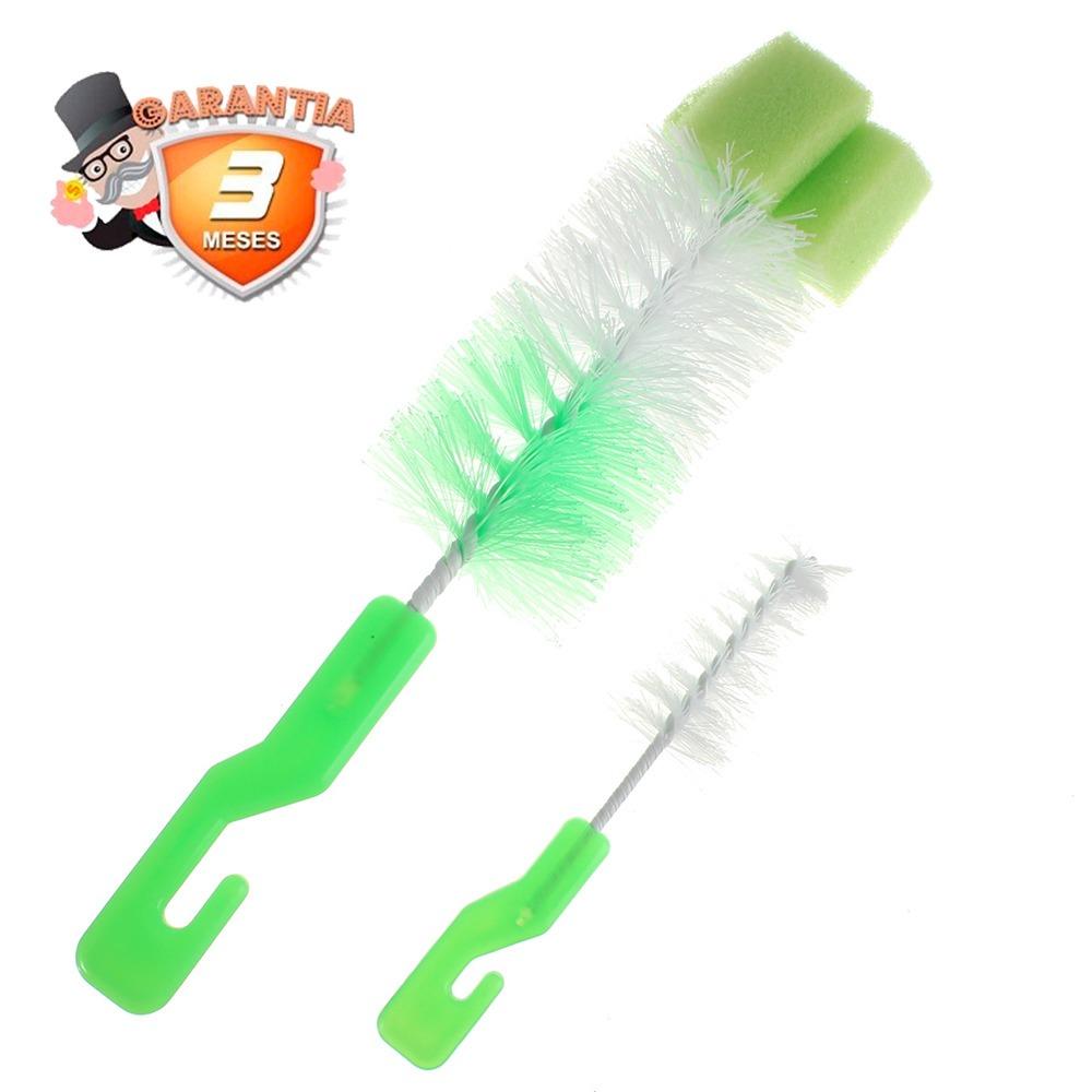set 2 cepillo limpia botella con esponja   disparocl. Cargando zoom. 8d95ca6117fa