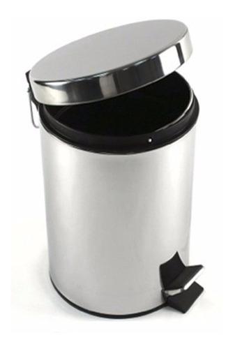 set 2 cestos tachos de basura acero inoxidable 3 lts + 12 lt