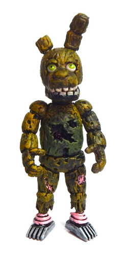 set 2 figuras five nights freddys spring bonnie + springtrap