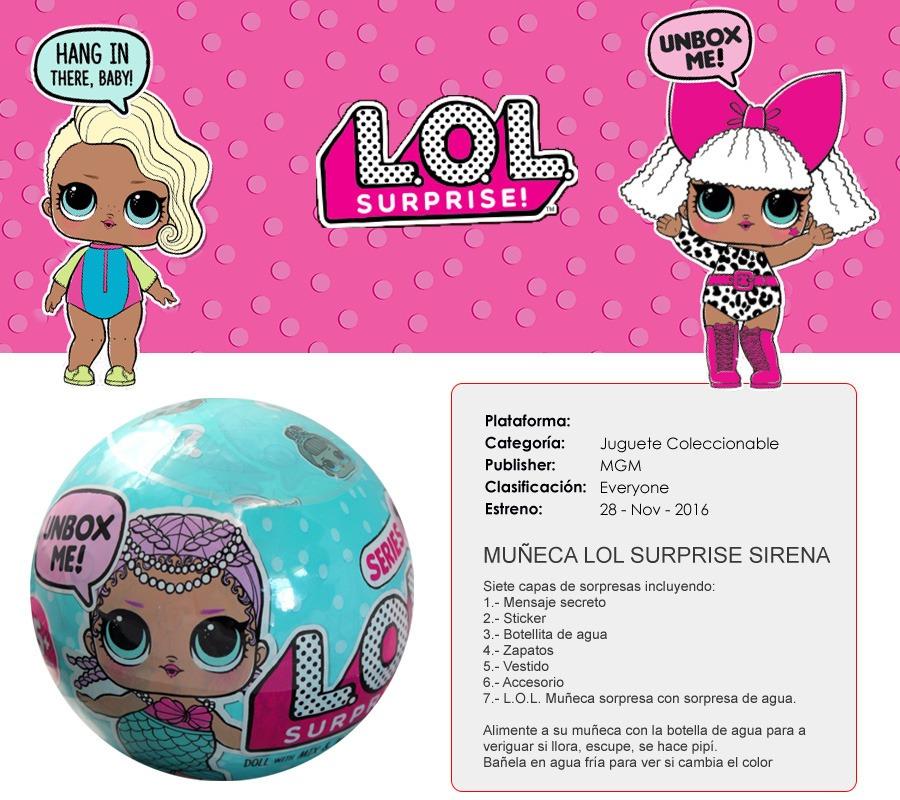 Set 2 L O L Surprise Doll Sirena Serie 1 Envio Gratis 1 199 00