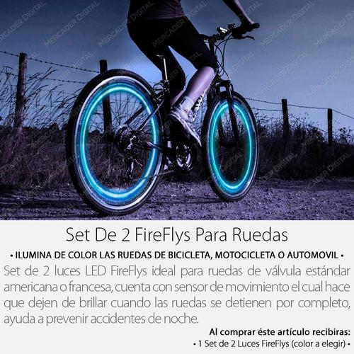 set 2 luz led válvula ruedas de bicicleta moto carro / tapón