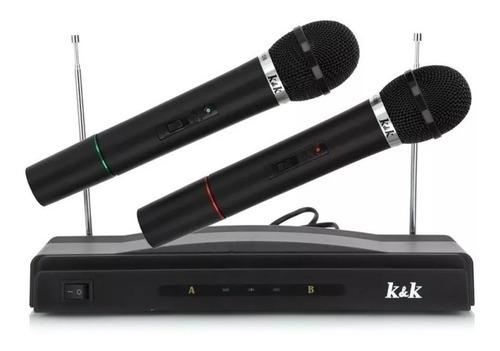 set 2 micrófonos inalámbricos doble profesional karaoke se puede conectar a mini componente consola parlante portátil