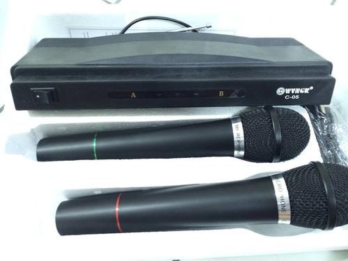set 2 micrófonos inalámbricos y receptor profesional karaoke
