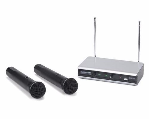 set 2 microfonos mano inalambricos samson stage 266 doble