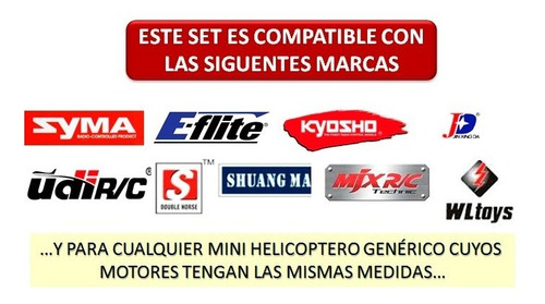 set 2 motores helicoptero rc syma s107g s111g s109g s026g