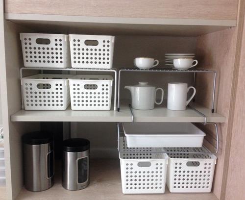set 2 organizador estante auxiliar / alzada reforzadas!!