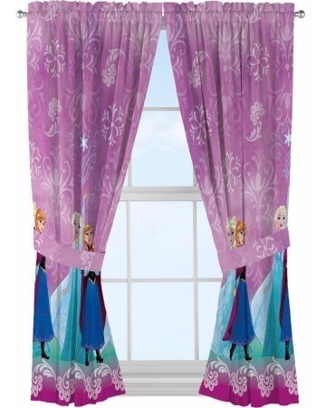 set 2 paneles cortinas para habitacion disney frozen