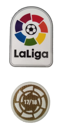 set 2 parches la liga lfp barcelona 2018 - 2019