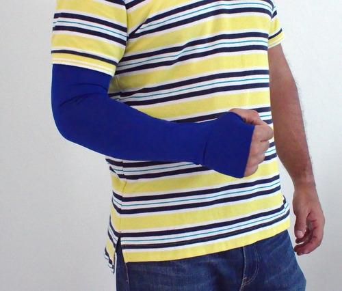 set 2 pares mangas protectoras sol uv conducir, brazo y mano