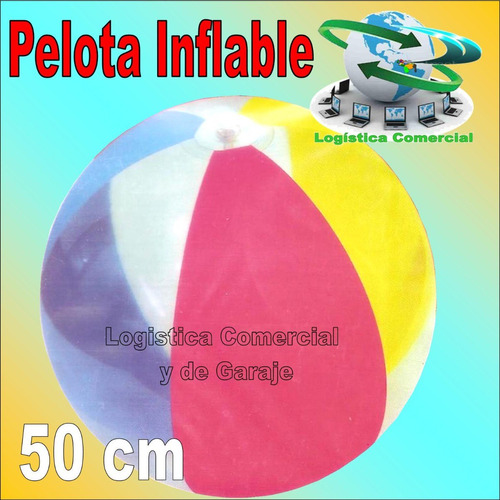 set (2) pelota inflable 50 cm diametro marca splash