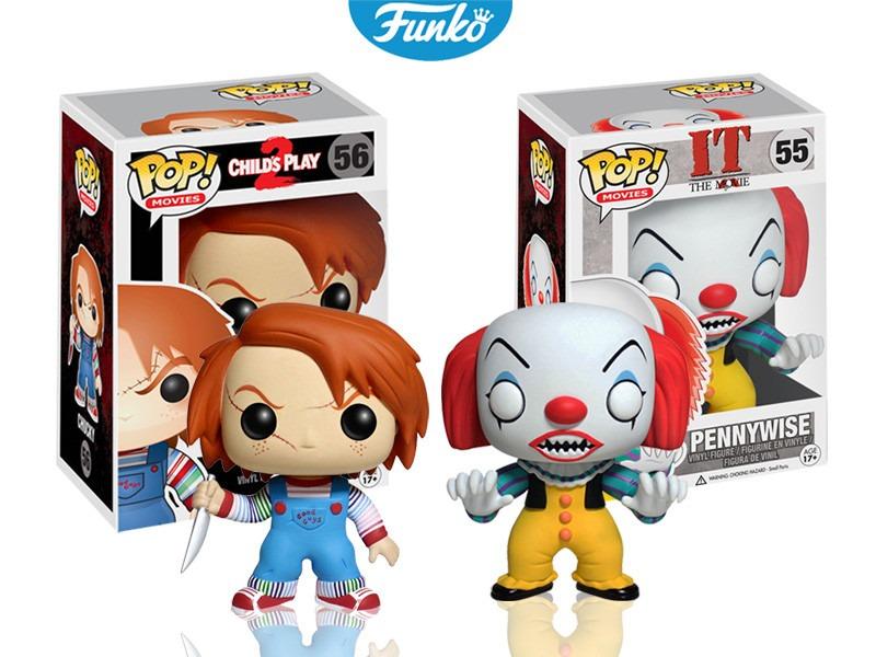 Set 2 Piezas Pennywise Chucky Funko Pop Terror Payaso Eso